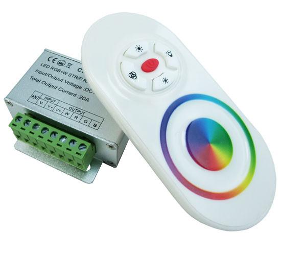 RGBW контроллер с тактильным пультом CT402-RF, однозональный 4 канала