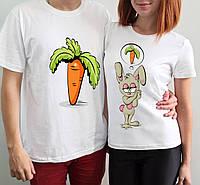 """Парные футболки """"Зайка и морковка"""""""