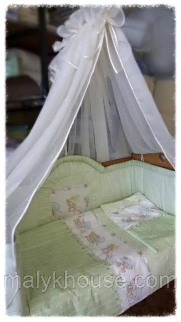 Комплект для дитячого ліжечка з балдахіном Веселка