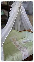 Комплект для дитячого ліжечка з балдахіном Веселка, фото 1