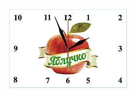 """Часы настенные стеклянные """"Логотип"""""""