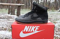 Зимние мужские кроссовки NIKE LUNAR FORCE 1 DUCKBOOT Черно-серые