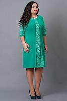 Нежно-зеленое платье «Софи», ботал,48,50,52,54 р-ры