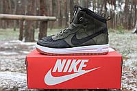 Зимние мужские кроссовки NIKE LUNAR FORCE 1 DUCKBOOT Черно-зеленый