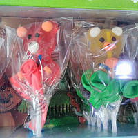 Желейная конфета мишки, петушки на палочке 20 шт., фото 1