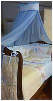 Комплект в кроватку для новорожденного Малятко 100% хлопок