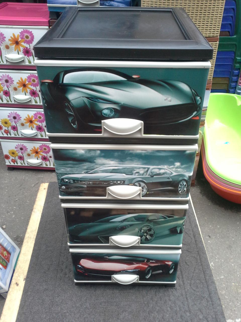 Детский пластиковый комод авто 9 элиф