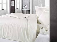 Постельное белье Sateen Strip 160*220 (ТМ CLASY) кремовый, Турция