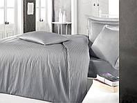 Постельное белье Sateen Strip 160*220 (ТМ CLASY) Gri,  Турция