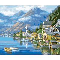 Картина по номерам на холсте Городской пейзаж Австрийский пейзаж 40х50см КН2143