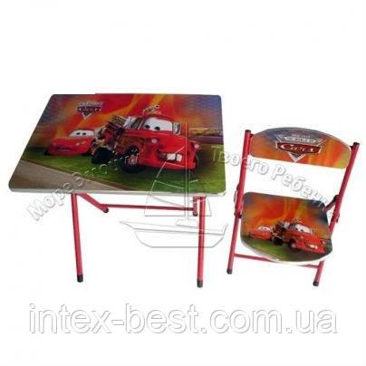 Детская парта DT 19-7 – столик со стульчиком Тачки