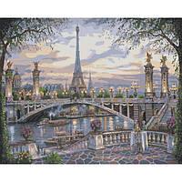 Картина по номерам на холсте Городской пейзаж Удивительный Париж 40х50см КН1148