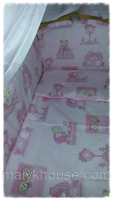 Комплект для детской кроватки 6 предметов