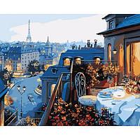 Картина по номерам на холсте Вид на Париж 40х50см КН1107