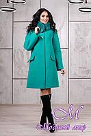 Женское теплое зимнее пальто с большим мехом (р. 44-54) арт. 978 Тон 9