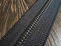 Молния металлическая рулонная №10 Италия темный никель
