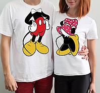 """Парные футболки """"Микки и Минни маусы"""""""