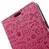 Чехол книжка для LG X Style K200DS боковой с отсеком для визиток, Мультяшки, малиновый, фото 6