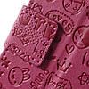 Чехол книжка для LG X Style K200DS боковой с отсеком для визиток, Мультяшки, малиновый, фото 7