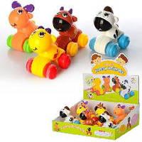 Заводные игрушки для малышей (коровушка, зебра, жирафик, олененок)