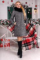 Зимнее пальто женское с натуральным мехом
