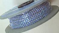 Стразовая цепь Preciosa (Чехия) ss6.5 Violet/серебро