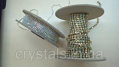 Стразовая цепь Preciosa (Чехия) Crystal AB