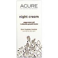 Acure Organics, Ночной крем, стволовые клетки аргании + фактор роста хлореллы (50 мл)