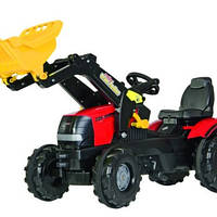 Трактор педальный c ковшом Rolly Toys Farmtrac Case Puma CVX 225 красный