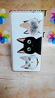 Чехол силиконовый бампер для Nokia Lumia 535 с рисунком Коты, фото 1