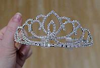 Детская корона, диадема, тиара, высота 5 см.