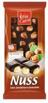 Шоколад черный с целым фундуком Fin Carre Edel-Zartbitterschokolade 100 г.