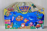 Тесто для лепки, набор для творчества Морские Животные, в коробке с ручками