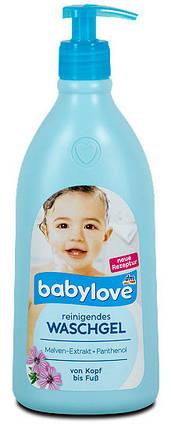 Гель для душа + шампунь с экстрактом мальвы Babylove 500мл с дозатором, фото 2