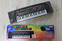 Музыкальный орган с микрофоном в коробке 65*6*19 см
