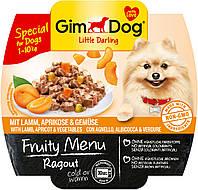 Консервы GimDog LD Fruity Menu для собак из кусочков ягненка, абрикоса и овощей, 100 г