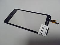 Тачскрин (сенсор) для Lenovo A680, с отверстием под фронтальную камеру (Black) Original