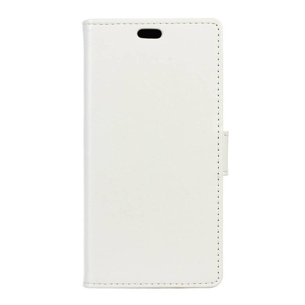 Чехол книжка для LG X Style K200DS боковой с отсеком для визиток, Гладкая кожа, белый