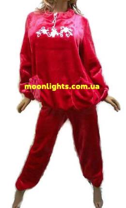 Пижама женская из плюшевой махры с карманами, размеры от 46 до 52, Харьков, фото 2