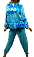 Пижама женская из плюшевой махры с карманами, размеры от 46 до 52, Харьков