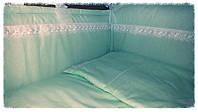 Комплект з бортиками Оленка в дитяче ліжечко, фото 1