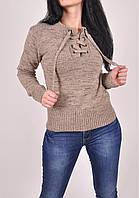 Свитер женский вязаный (цвет зелёный) размер 44-46 ParkHande арт.7696 (производство Турция) (Код: 250000275179