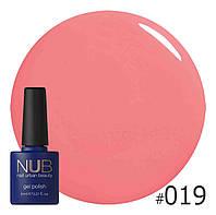 Гель-лак NUB № 019 Smoothie Pink, 8 мл