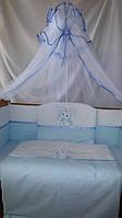 Детский комплект в кроватку для новорожденных Зайка с карманом-органайзером, фото 1