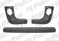 Накладки на задний бампер Renault Kangoo 2 Polcar 606296-2