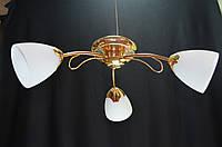 Люстра потолочная трехламповая PR27014-3Gd  , фото 1