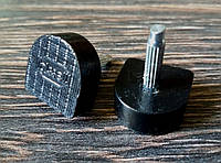 Набойки полиуретановые на штыре BISSELL 12х12мм штырь 2.9 мм черные 606A