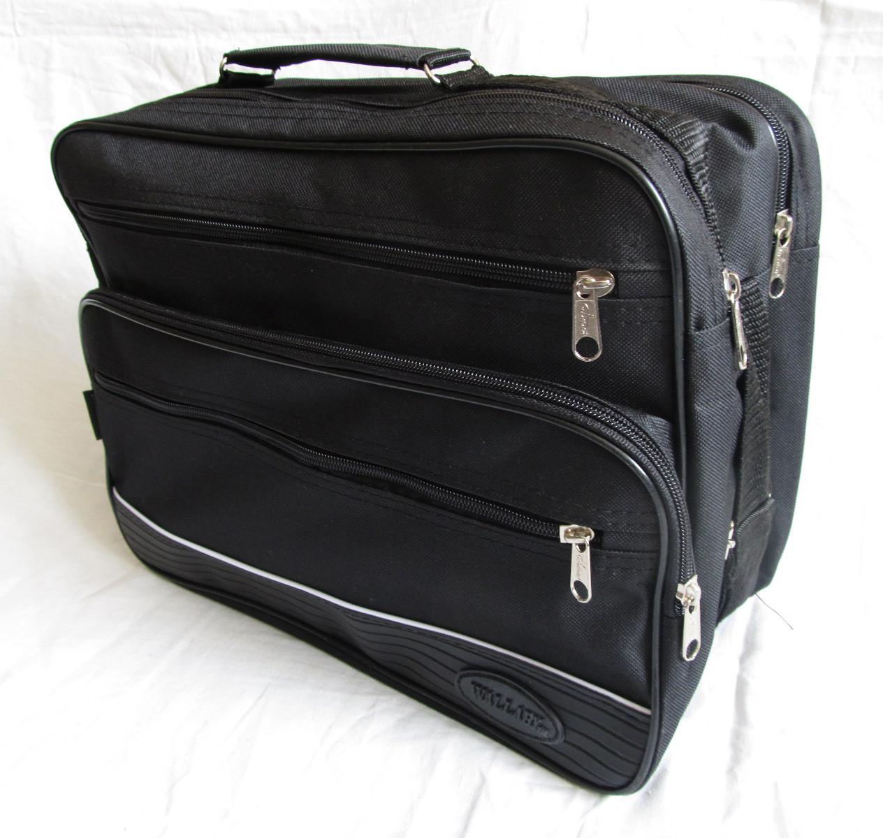 e7a0b18d60d0 Мужская сумка Wallaby 2650 черная барсетка через плечо папка портфель А4  35х26х17см