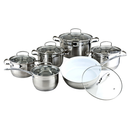Набор посуды Kamille из нержавеющей стали 12 предметов