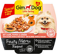 Консервы GimDog LD Fruity Menu для собак из кусочков лосося, папайя и овощей, 100 г